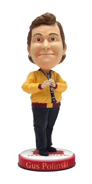 Gus Polinski, the self professed Polka King of the Midwest, played by actor John Candy will now have his own bobblehead in the National Bobblehead Hall of Fame and Museum.
