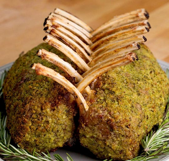 Chef John Strand's Thanksgiving Herb Rack of Lamb