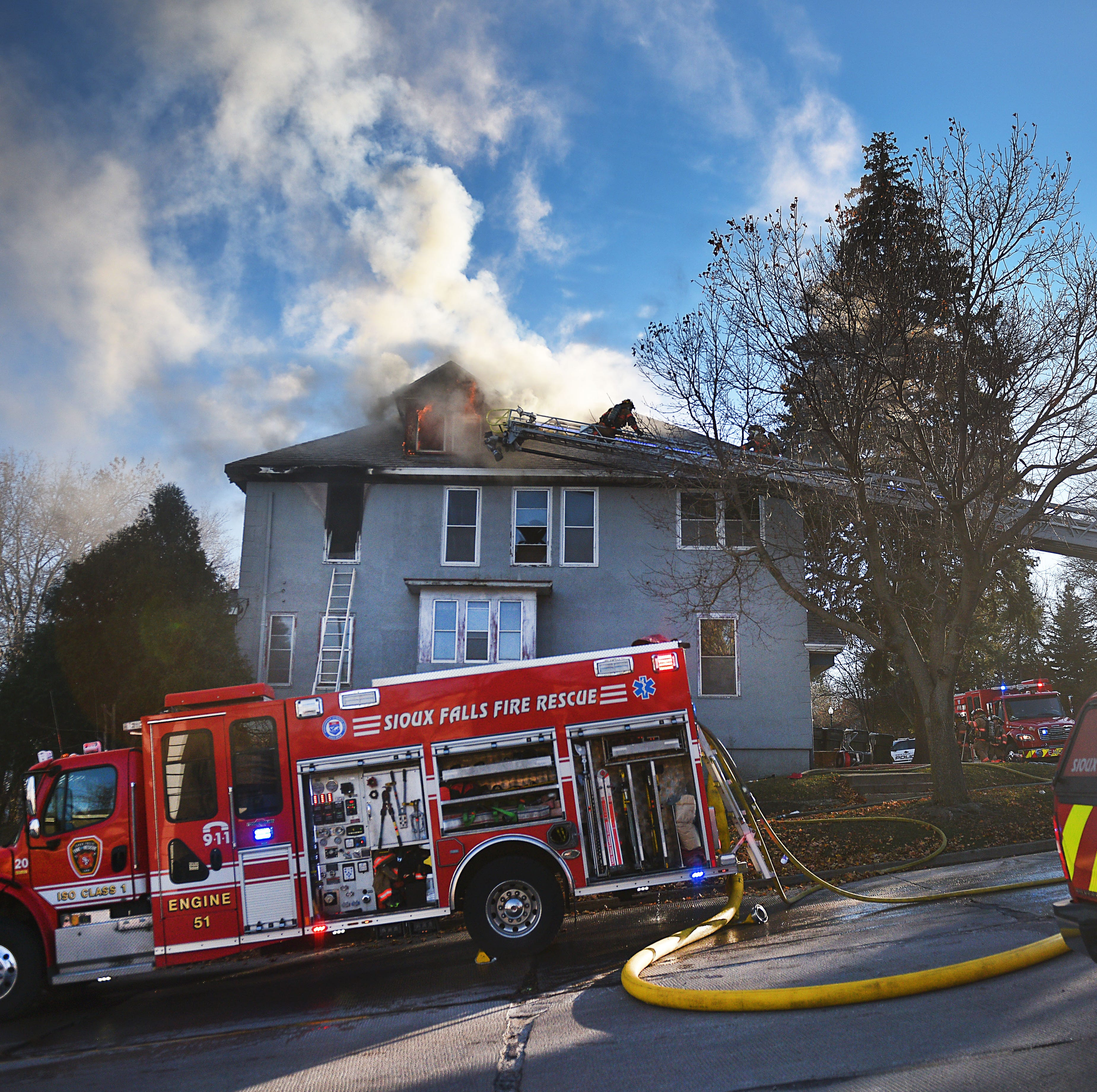 Nobody injured in central Sioux Falls fire Tuesday