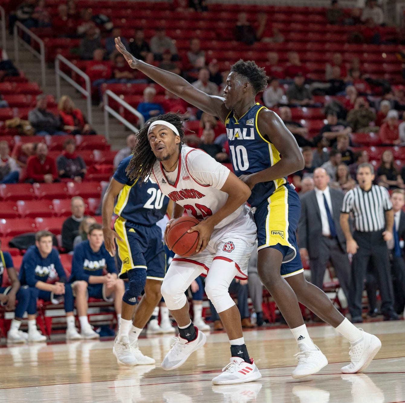 South Dakota men's basketball team defeats Northern Arizona 90-74