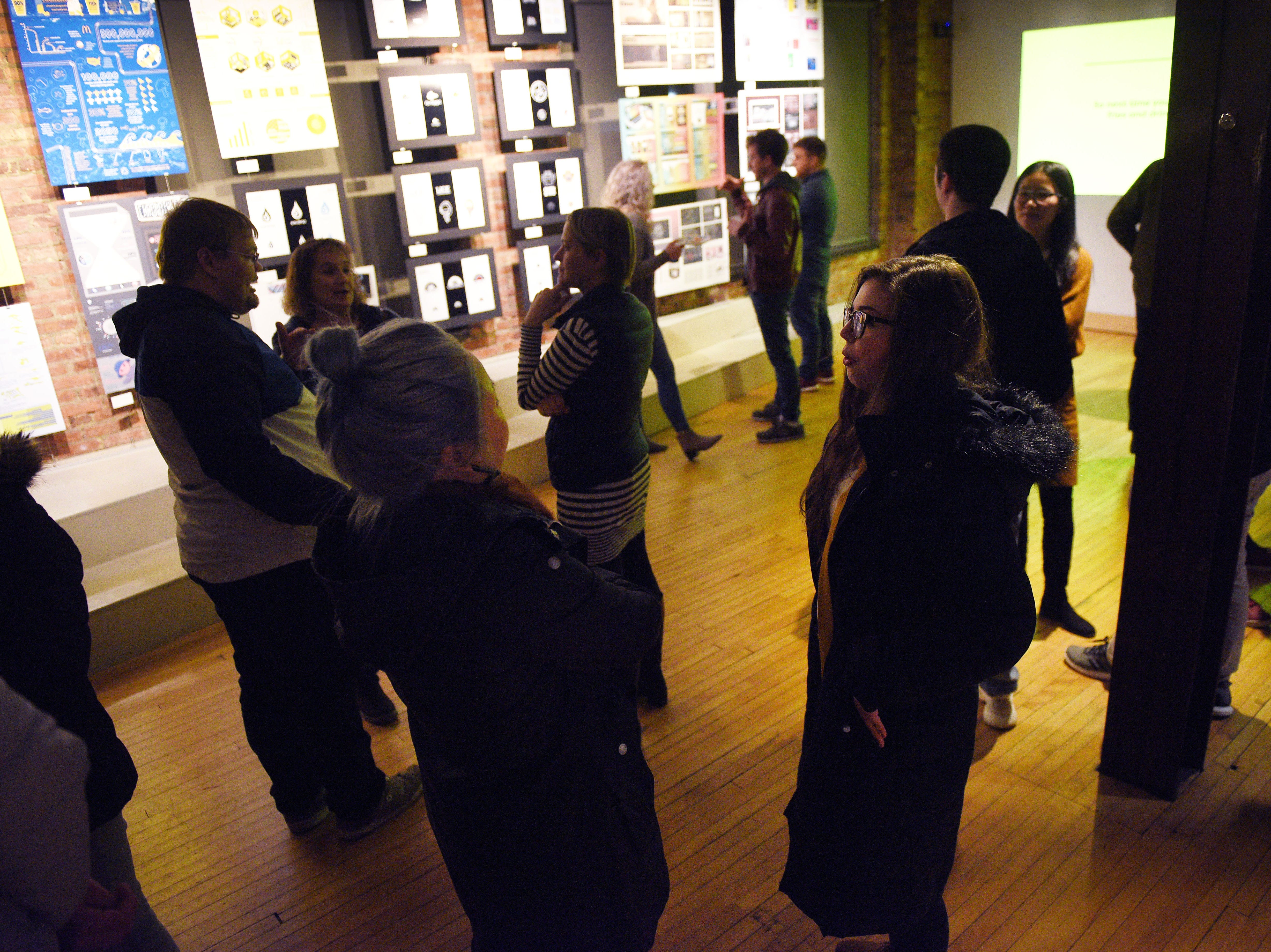 The Sioux Falls Design Center hosts USD Graphic Design Student work show Wednesday, Nov. 7, in downtown Sioux Falls.