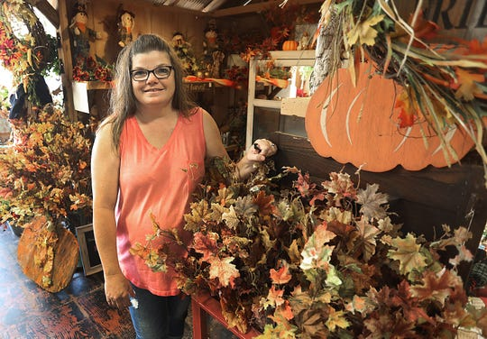 Marcy Gripka runs a flower shop in Crane, like her grandmother before her.  Country Petals celebrated its third anniversary in October.