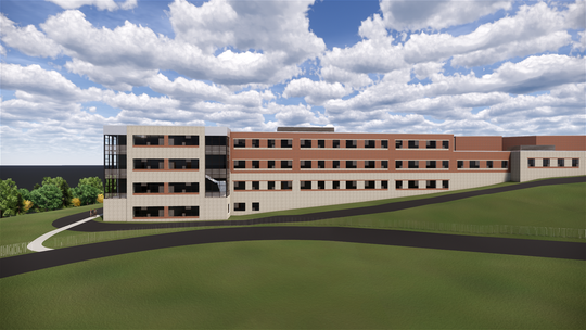The design includes a classroom wing expansion, shown in this artist rendering. The new space will hold up to 900 students compared to the current 700-750 student capacity.