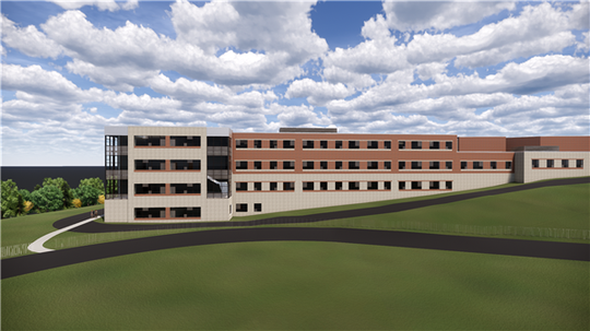 Reconstruction plan for Staunton High School