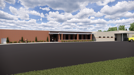 Artist rendering of what the cafeteria will look like from outside. The design phase for the renovation is expected to last until February 2019.