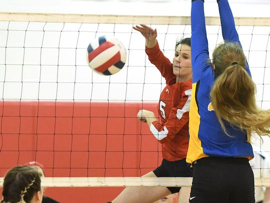 Riverheads' Abbey Eavers had 234 kills, 177 digs and 72 blocks this season as a junior.