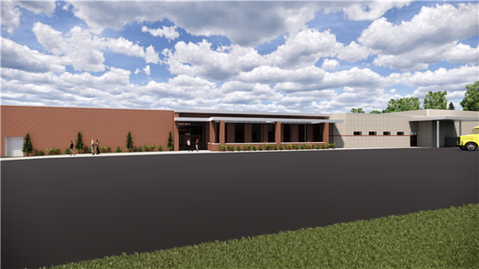 Reconstruction plan for Staunton High School