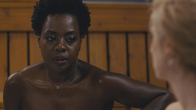"Viola Davis leads the cast in the action pic ""Widows,"" opening Friday."