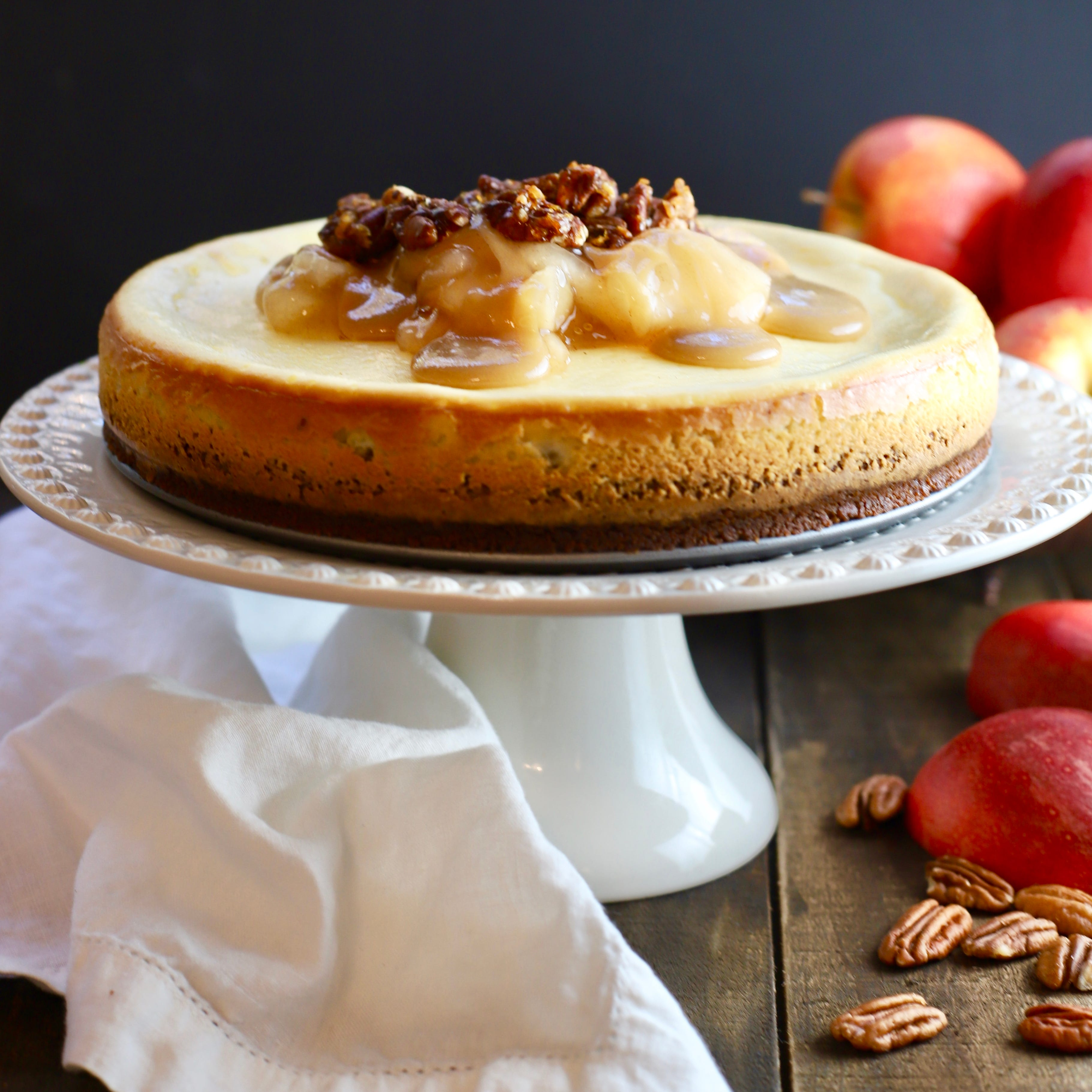Put the sweet into Thanksgiving with Apple Pie Cheesecake
