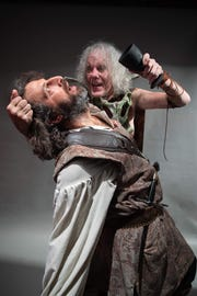 "Spend the evening and dinner with ""Macbeth"" at Mickee Faust Clubhouse in Railroad Square Art Park."