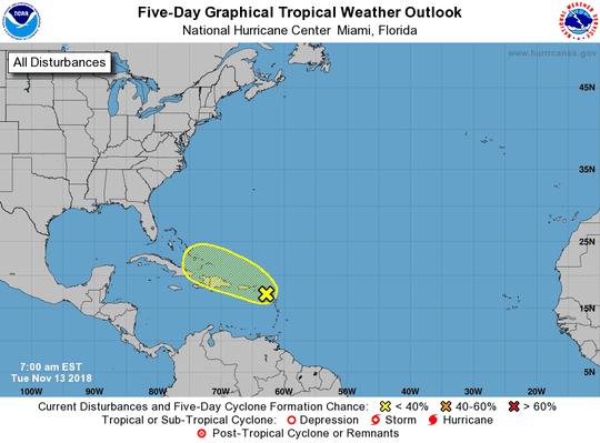 Tropical wave 7 a.m. Nov. 13, 2018