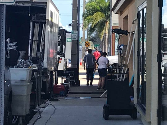 John Walsh films for his new show on Investigation Discovery in downtown Vero Beach Nov. 13, 2018.