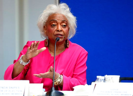 Broward County Supervisor of Elections Brenda Snipes is a target for the GOP, including former Gov. Jeb Bush, who appointed her to the post in 2003. (AP Photo/Wilfredo Lee, File)