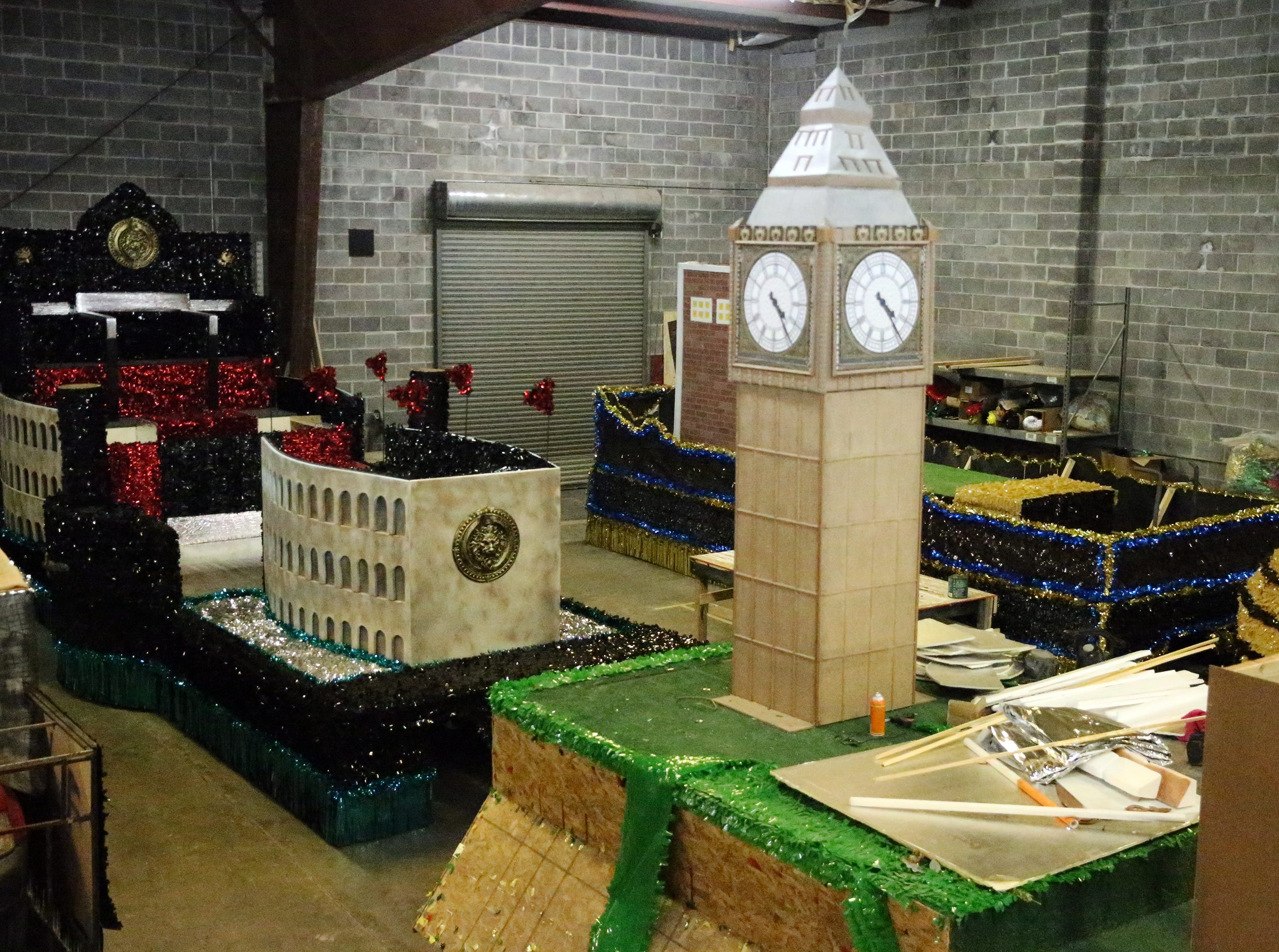 Floats with various themes are being constructed for the 82nd Annual First Light Federal Credit Union Sun Bowl Parade on Thanksgiving Day.