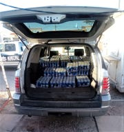 Juárez police found a sport utility vehicle with dozens of stolen cases of beer following the theft of a beer delivery truck.