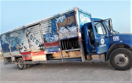 A beer delivery truck was found empty after it was stolen in Juárez, Mexico.