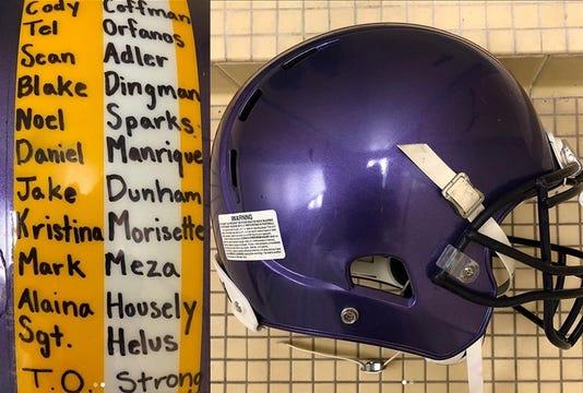 CLU football helmet