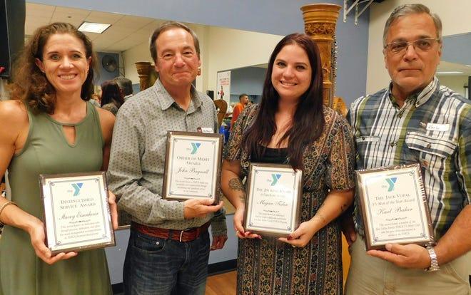 From left are Simi Valley YMCA honorees Stacey Eisenhour, John Bagnall, Megan Tisler and Karl Baker.