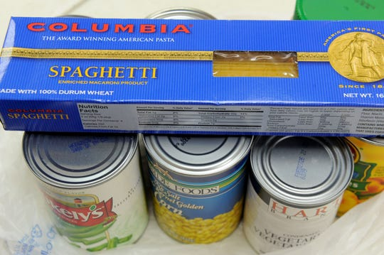 For one week in February, donations of canned food will be accepted in lieu of money for overdue library fines at the 12 locations in the Ventura County Library system.