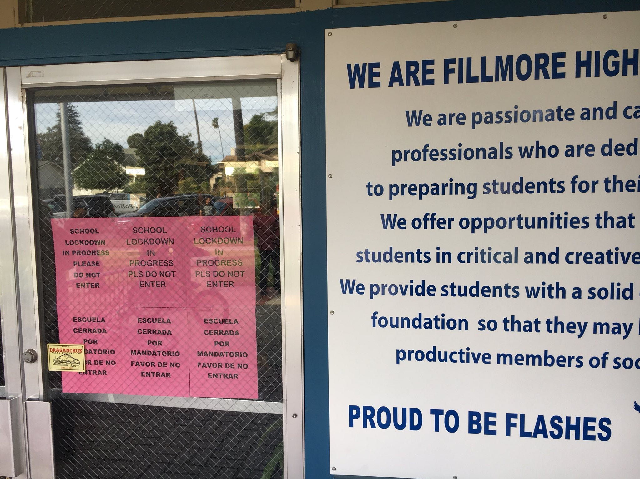 Fillmore High School lockdown lifted; threat made of harm to student