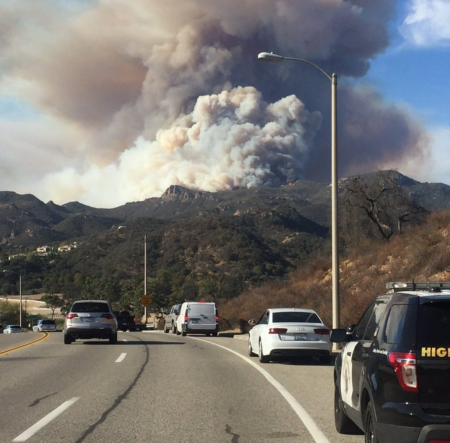 Woolsey Fire: Flare-ups cause concern in Conejo; Interior Secretary Ryan Zinke to visit