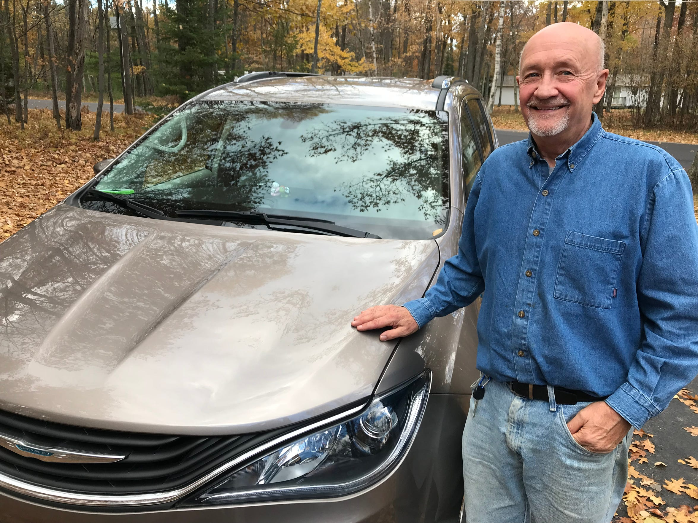 """I never win anything,"" said Randy Wendt, Minocqua. But he won, and sold, the 1948 Plymouth, which allowed him to purchase new Chrysler Pacifica hybrid minivan."