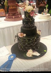 The wedding cake that won Steven Ciccone a gold medal in a competition held by the Societe by Culinaire Philanthropique de New York.
