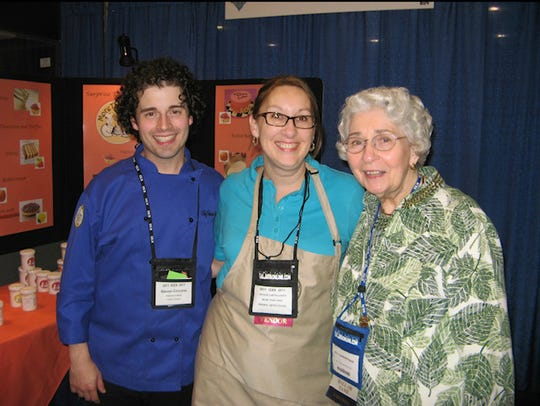 Steven Ciccone with his student Jacqueline Curtis (center) and his longtime mentor Betty VanNorstrand.
