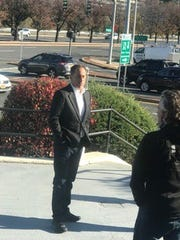 Jerry Seinfeld outside City Limits in White Plains where he had two eggs over well with bacon.