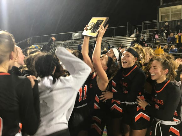 The Pawling field hockey team after winning the 2018 Section 1 Class C title.