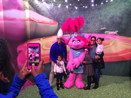 "Dreamworks new ""Trolls"" interactive experience in New York City."