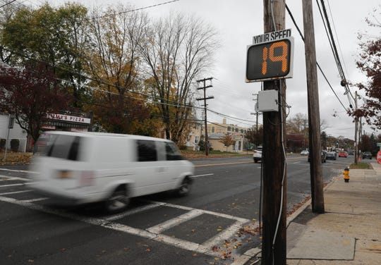 Speed signs are pictured along Mamaroneck Avenue and New Street in Mamaroneck, Nov. 13, 2018.