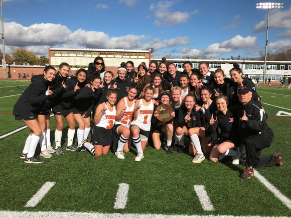 Mamaroneck after winning its 2018 state regional Class A field hockey title