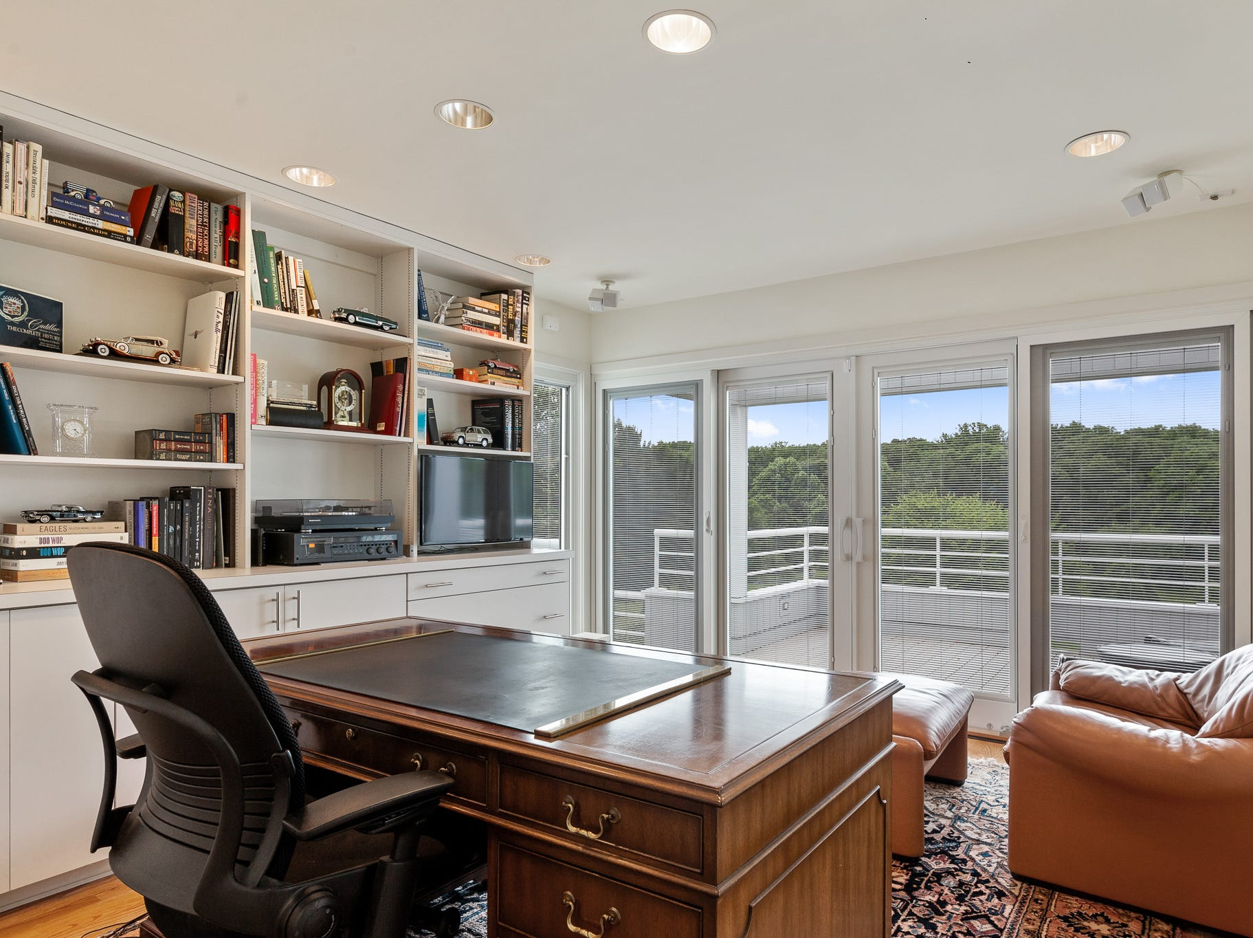 A home office is adjoins an open air deck at 3611 Centerville Road in Greenville.