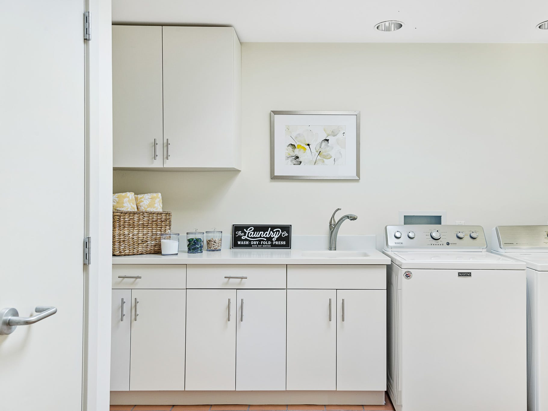 The house at 3611 Centerville Road in Greenville offers a spacious laundry room.
