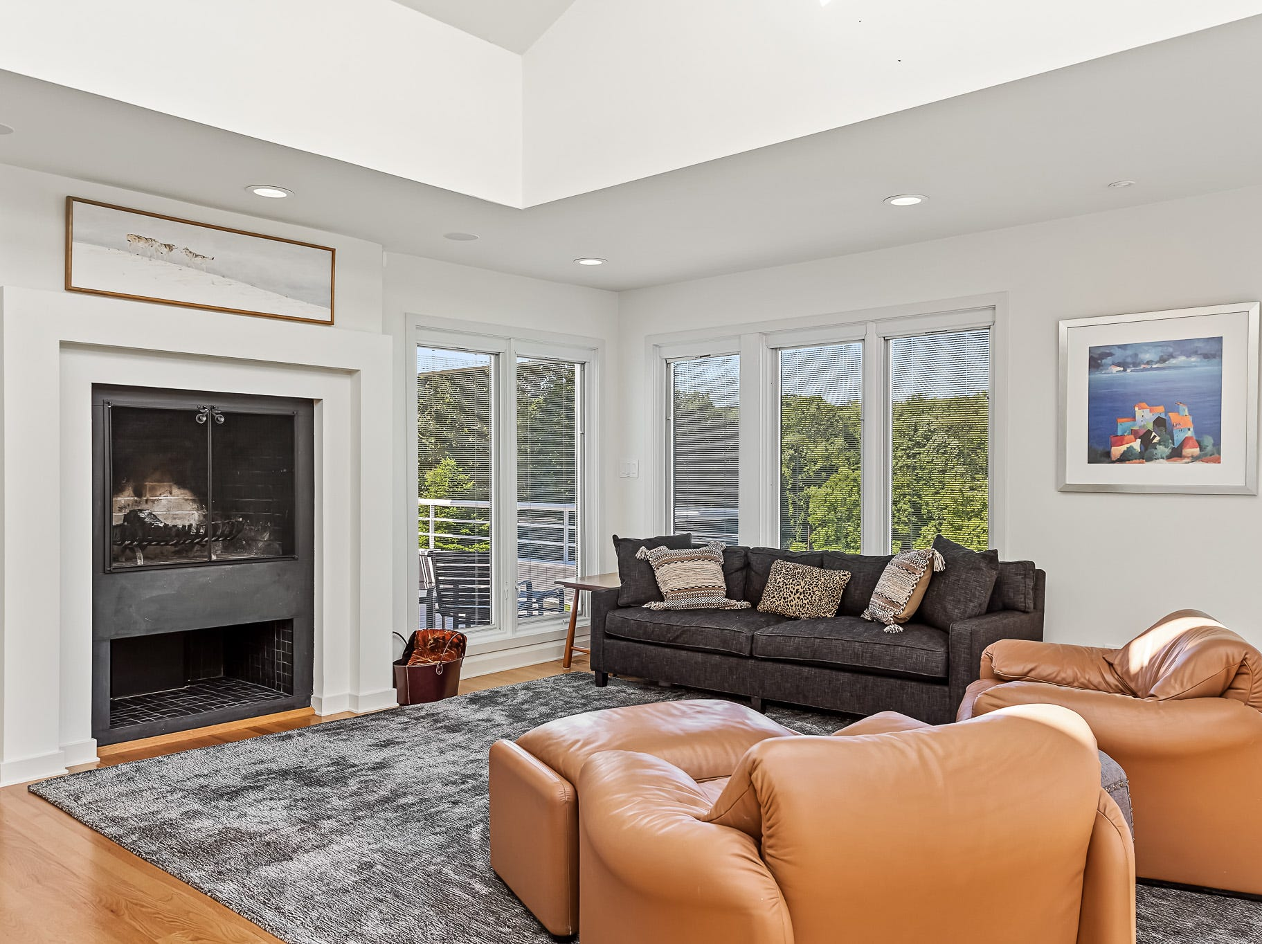 There's a wood-burning fireplace in the family room at 3611 Centerville Road in Greenville.