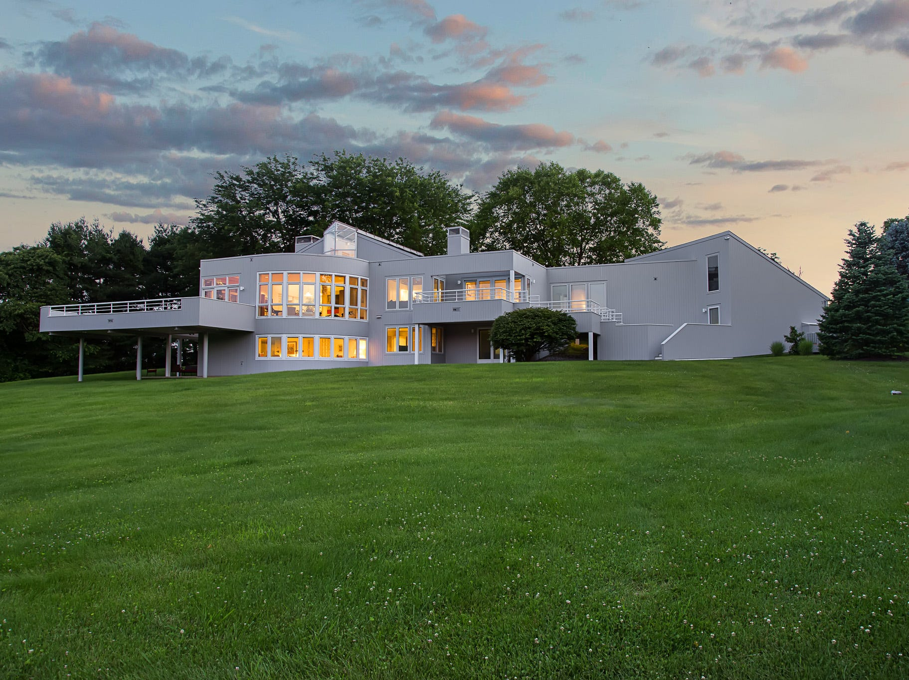 This contemporary home at 3611 Centerville Road in Greenville was designed by architect Buck Simpers and is situated on 6.1 acres.