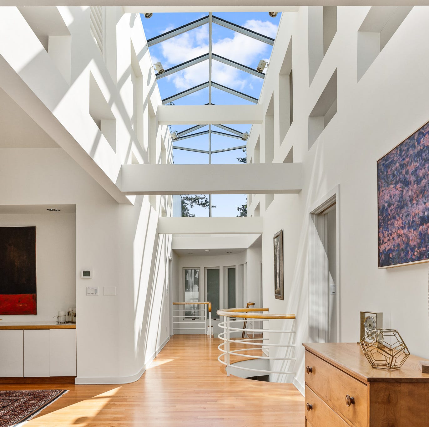 Glass ceiling, contemporary style make this Greenville house a rare jewel