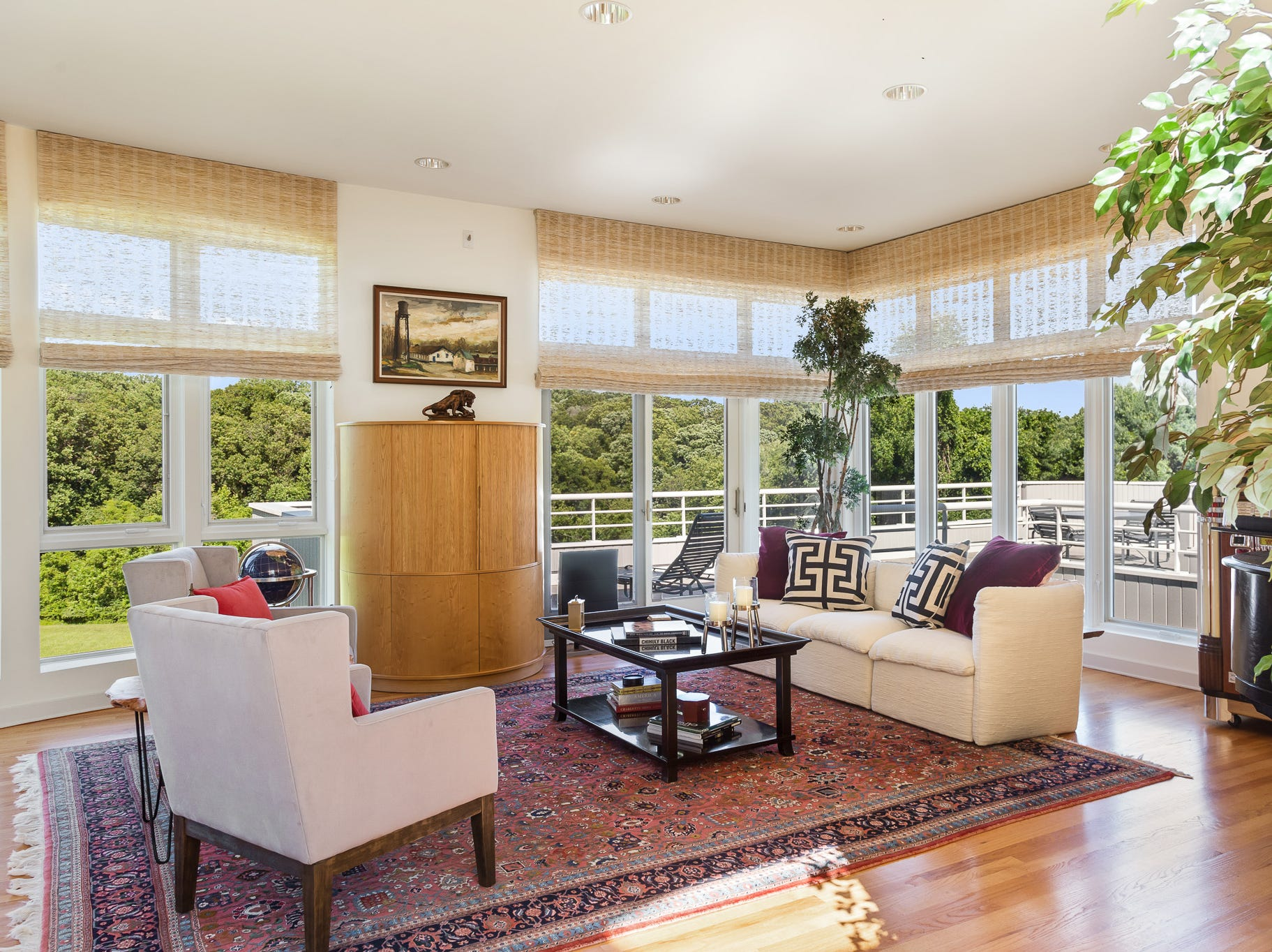 There are expansive views from the living room and almost every room in the house at 3611 Centerville Road in Greenville.