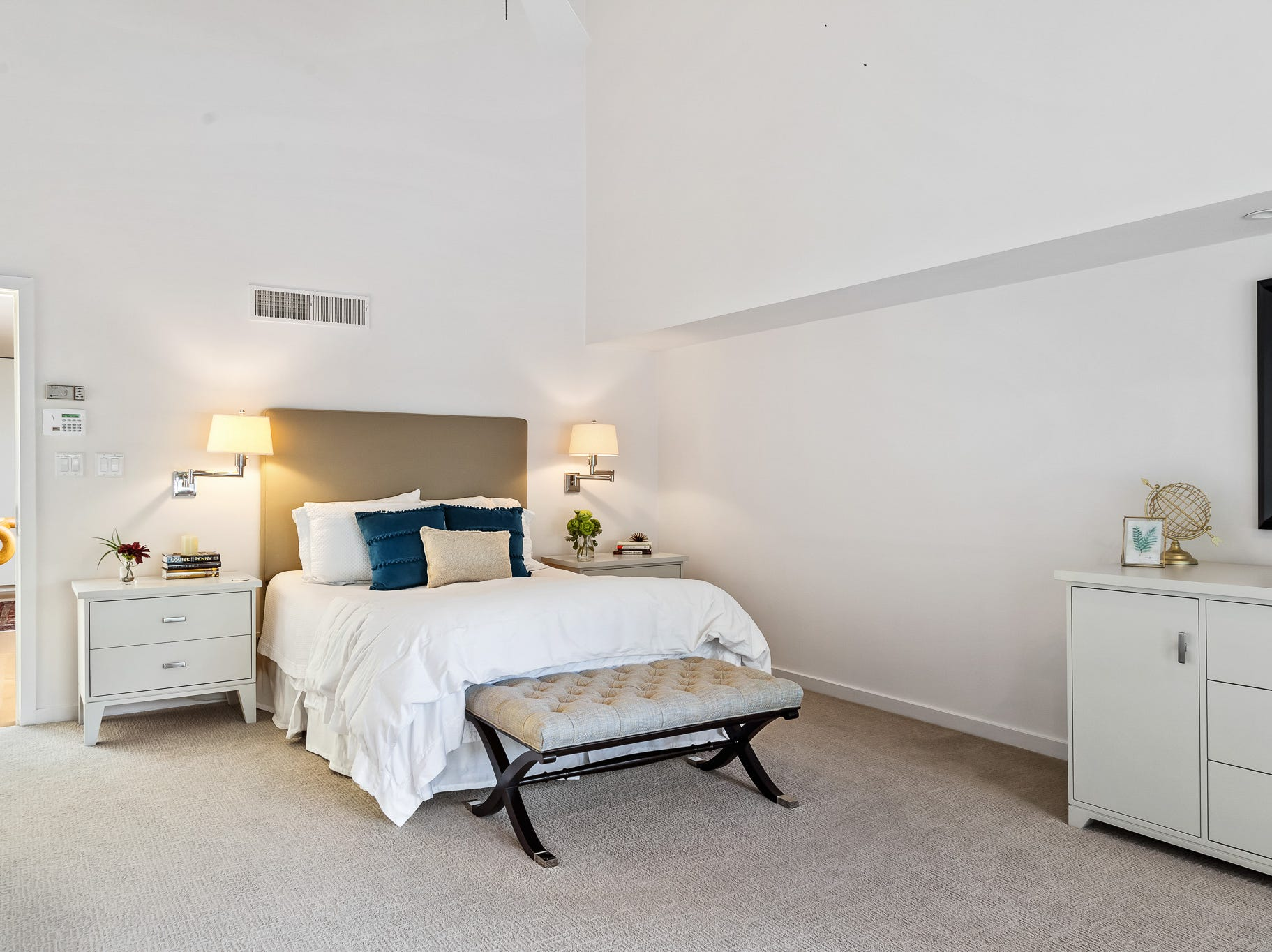 The lower level at 3611 Centerville Road in Greenville includes guest bedrooms.