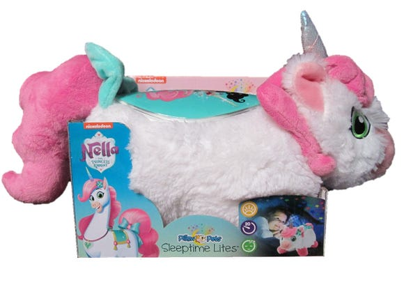 Nickelodeon Nella Princess Knight Pillow Pets Sleeptime Lights.