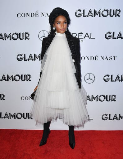 Janelle Monae Hillary Clinton Hit The Glamour Women Of The Year Awards