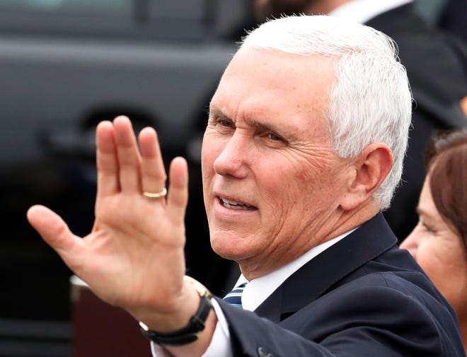 Vice President Mike Pence, shown in a November 2018 photo, could get a pay raise from Congress. The salary of the vice president and other top executive branch officials has been frozen at 2010 levels.