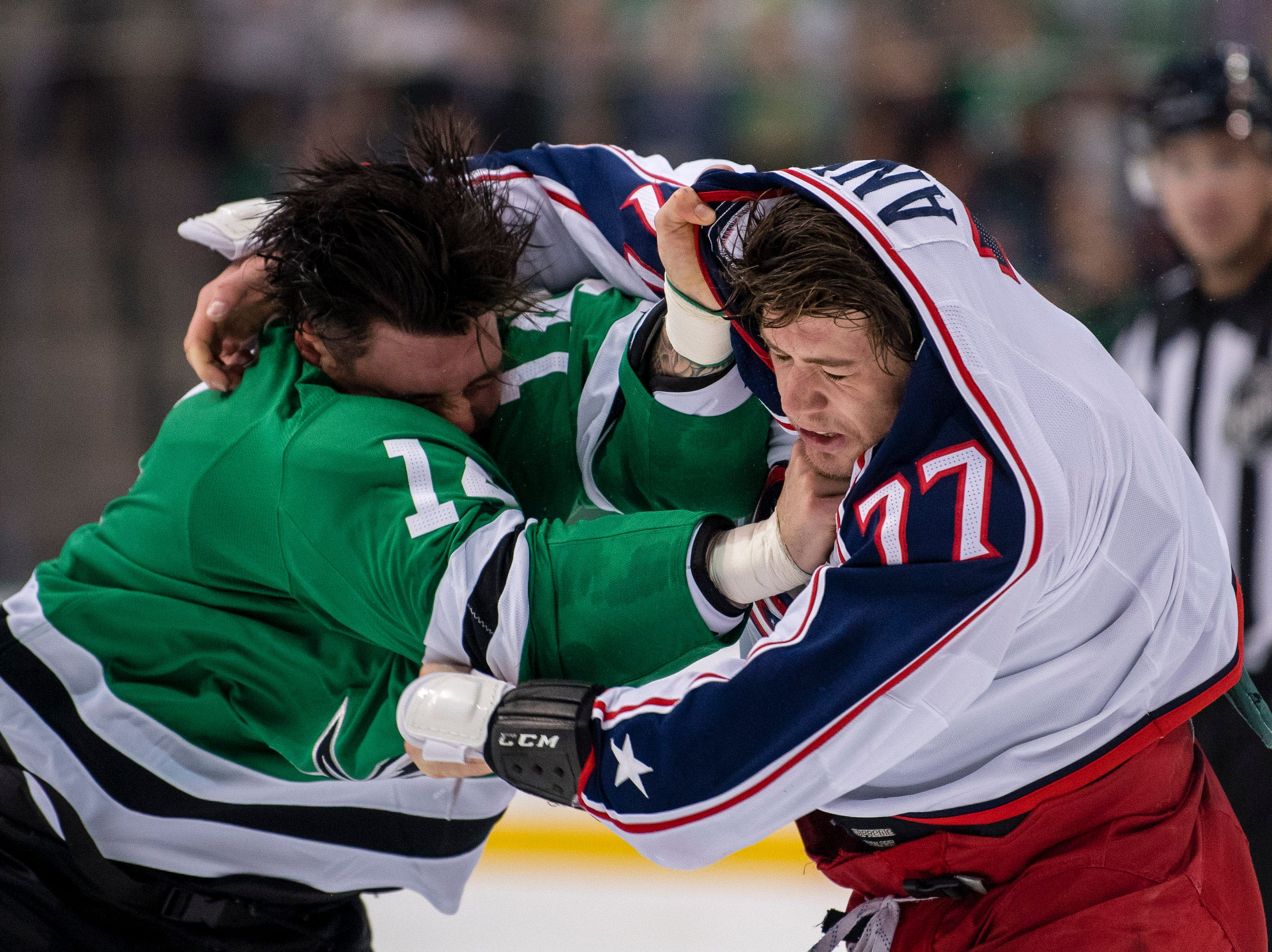 Nov. 12: Dallas Stars' Jamie Benn vs. Columbus Blue Jackets' Josh Anderson.
