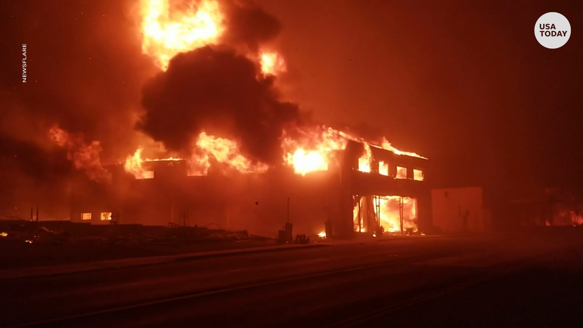 New dramatic video surfaces from deadly Camp Fire