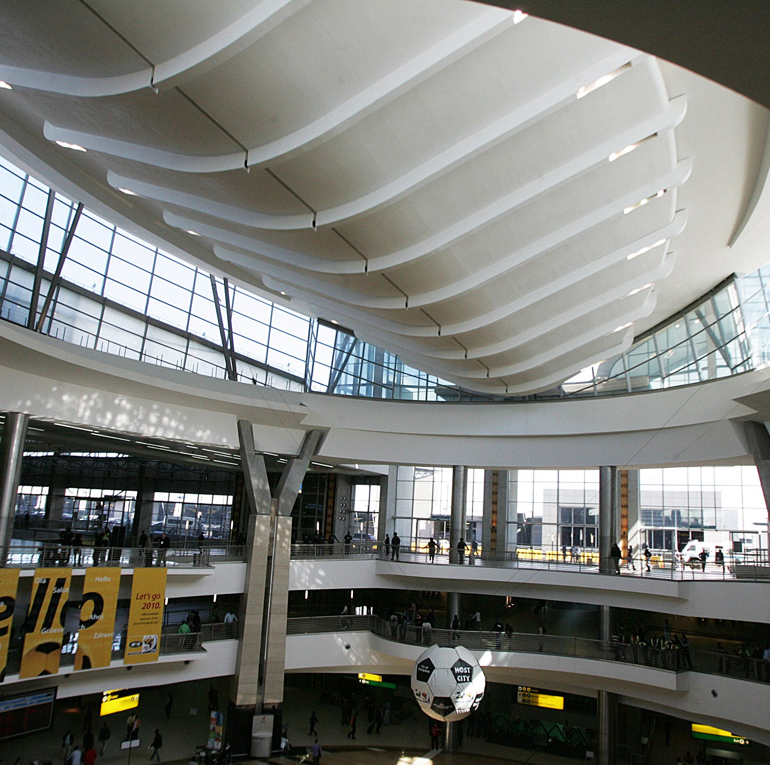 The Central Terminal building of the O.R Tambo international airport in Johannesburg after its inauguration by South African President Jacob Zuma on April 20, 2010.