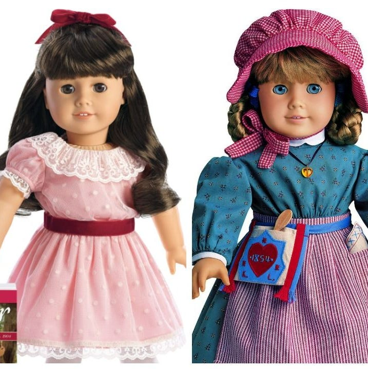 Molly McIntire, Samantha Parkington and   Kirsten Larson were the first American Girl dolls produced in 1986 that could be  worth hundreds if they are in top condition.