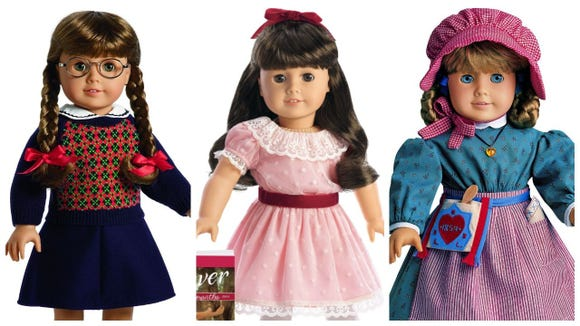 Molly McIntire, Samantha Parkington, and Kirsten Larson were the first American Girl dolls made in 1986 that could be worth a lot of money when in top shape.