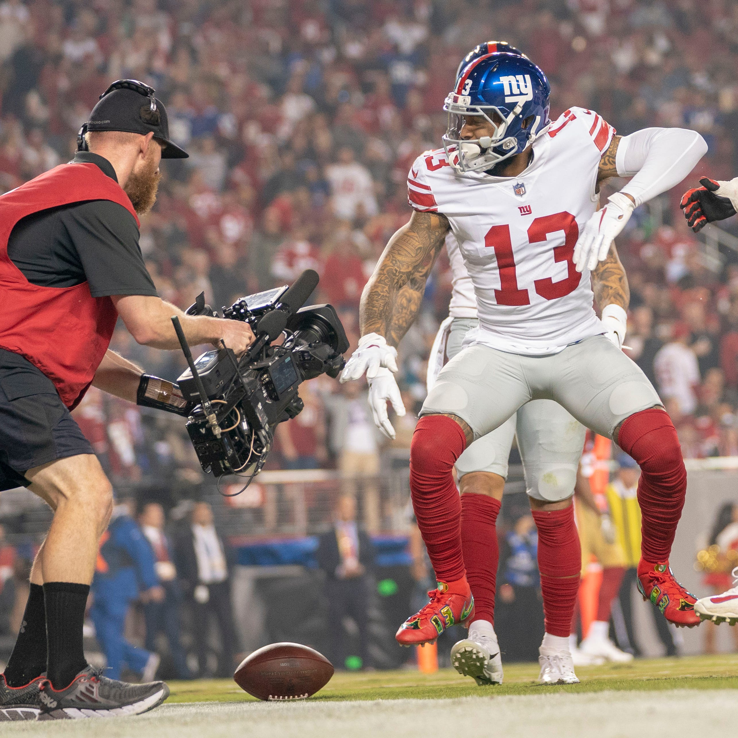 NY Giants' Odell Beckham Jr., 49ers' Marquise Goodwin share emotional Monday night moment