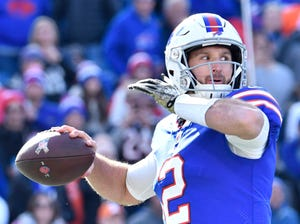 In eight career NFL games played, Nathan Peterman threw 3 TDs and 12 INTs.